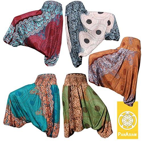 PANASIAM - Pantalón para mujer Mandala olivengrün