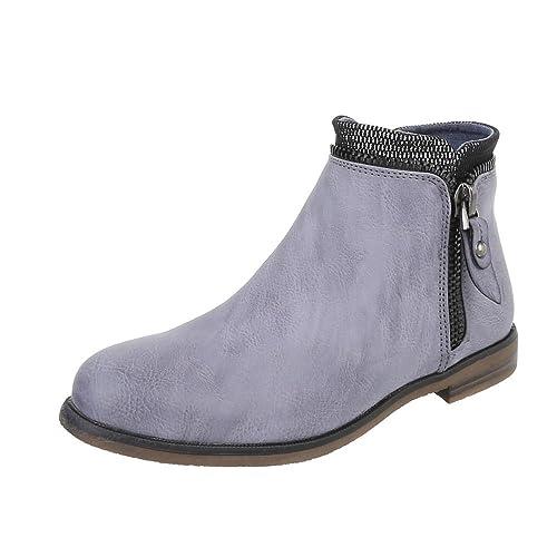 Stiefeletten Damenschuhe Boots Design Ital Chelsea TkZXiwOuPl