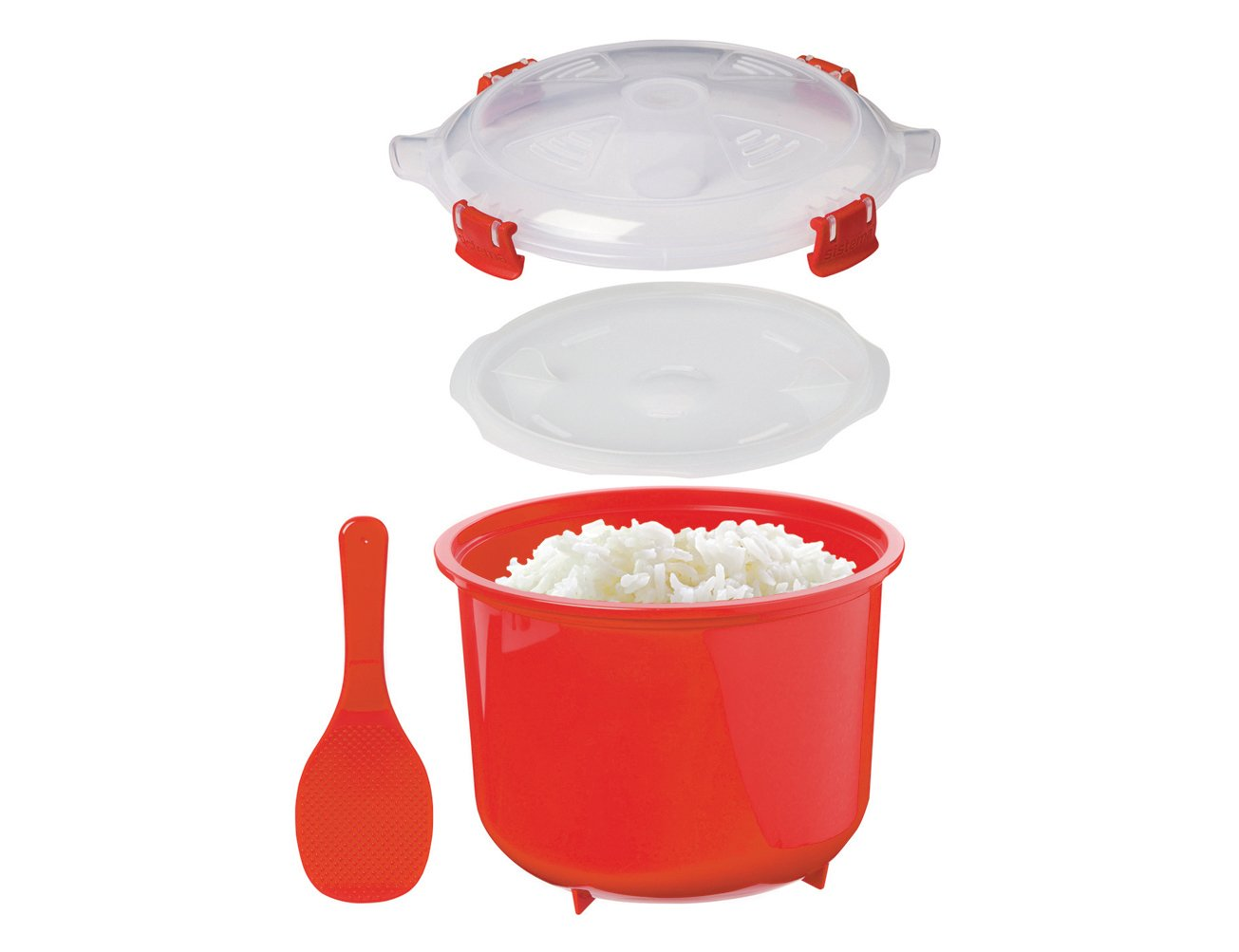 Sistema Microwave Collection Rice Cooker, 87.2 oz./2.6 L, Red by Sistema (Image #4)