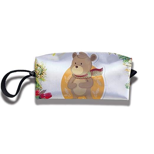 Amazon.com: Christmas Cute Bear Travel Makeup Bag Cosmetic Bags Toiletry Bag Clutch Pouch Multi-Purpose Organizer Bag: Clothing