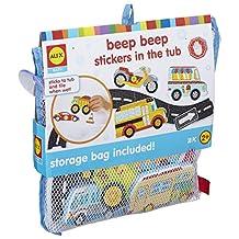 ALEX Toys Bath Beep Beep Stickers in The Tub Bath Toy