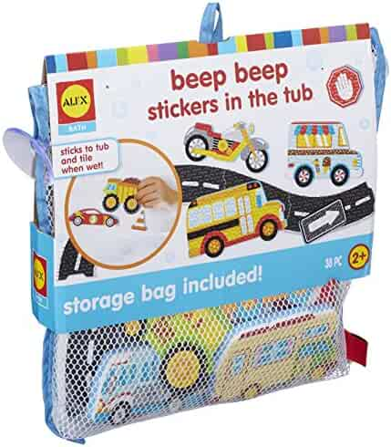 ALEX Bath Beep Beep Stickers in The Tub Bath Toy