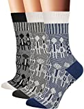 Flora&Fred Women's Cotton Crew Socks, Sock Size 9-11/Shoe Size 5-9, Couple, 3 Pack