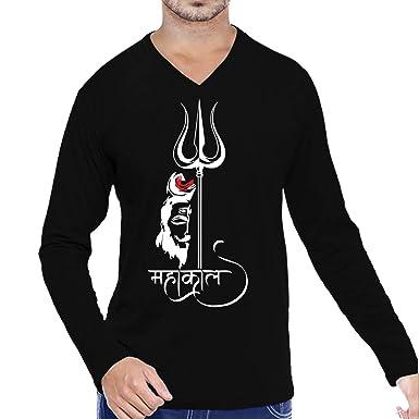e1ba7df5e Pooplu Mens Mahakal Cotton Printed V Neck Full Sleeves Multicolour Tshirt.  Mahakal, God, Mahadev, Shiva, Shiv, Trishul, Tshirts and Tees