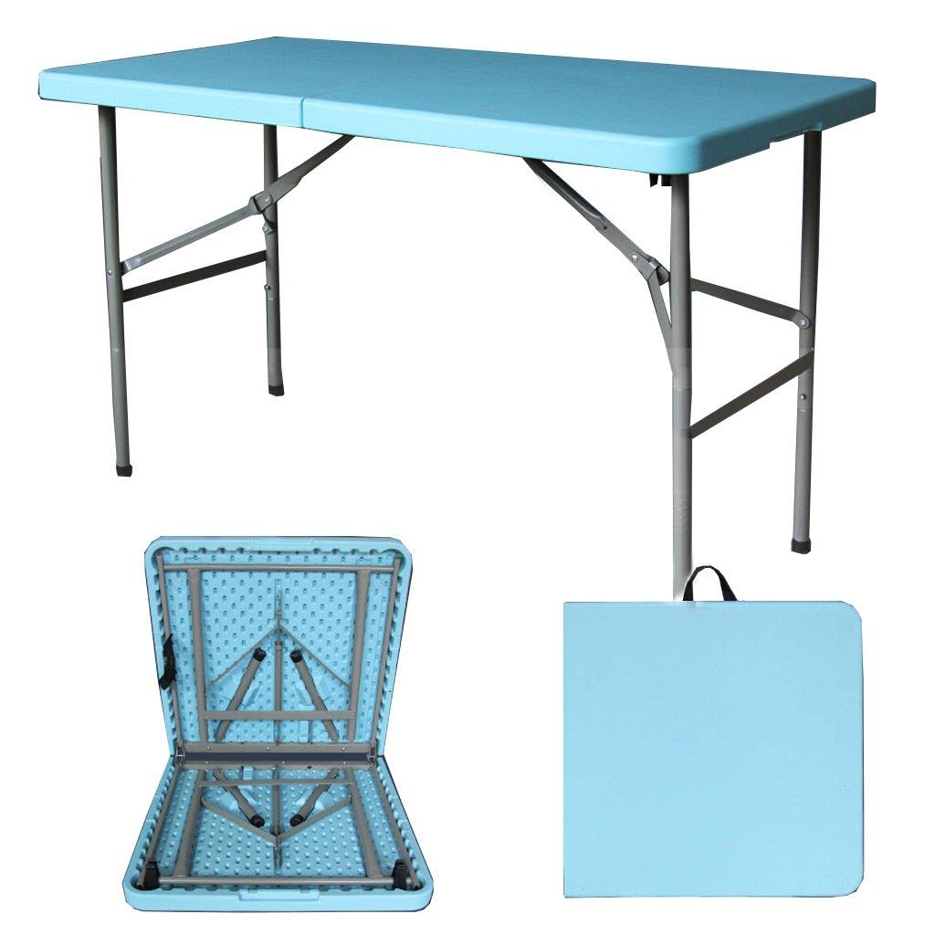 TangMengYun 折りたたみテーブルシンプルな屋外ポータブル長方形テーブル会議テーブルトレーニング活動テーブルホームダイニングテーブル (Color : Blue, サイズ : 122*61*74CM) B07DQNS4T6 122*61*74CM Blue Blue 122*61*74CM
