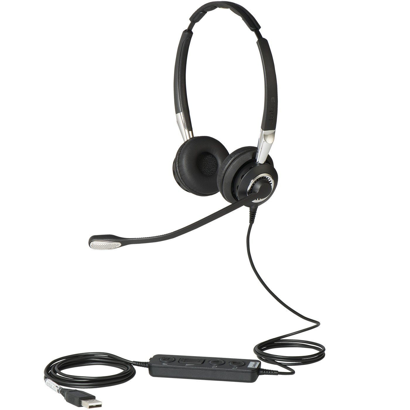 Jabra 2400 II USB DUO CC Wired Headset - Black by Jabra (Image #1)