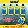 5x Rain x Windshield Cleaner 200ml Rain Guard Glass Cleaner