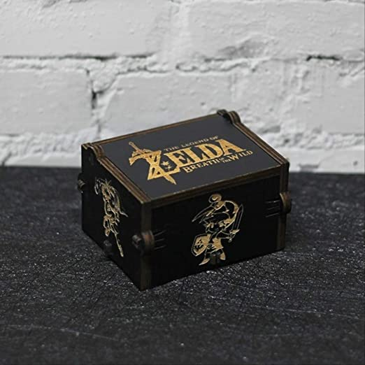 LYXL Caja Musica Niña Estilos Color Negro Tallado Antiguo Juego De ...