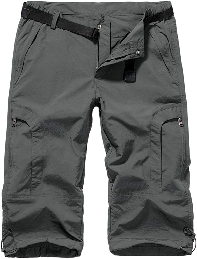 Jessie Kidden Women's Stretch Hiking Shorts, Quick Dry Casual Capri Cargo Pants Camping Travel