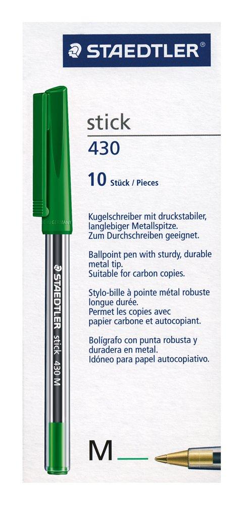 Staedtler Stick 430 M-2 Kugelschreiber 10 St/ück Rot