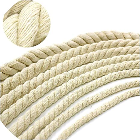 Triple-Strand Rope by The Foot 20mm 5mm 10 Feet Cotton Rope Craft Supplies