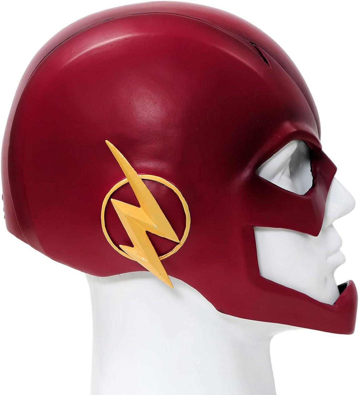 ispirato al celebre supereroe dei fumetti Elmetto di Flash per cosplay colore: rosso in PVC perfetto da indossare per Halloween o per Carnevale Xcoser per adulti