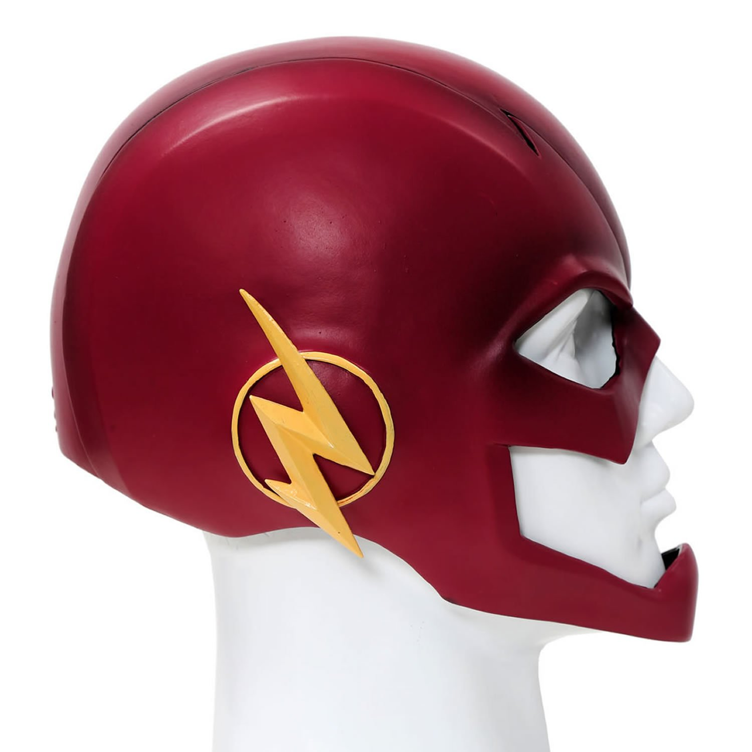 Flash Mask Cosplay Helmet PVC Red Mask For Adult Halloween Accessory