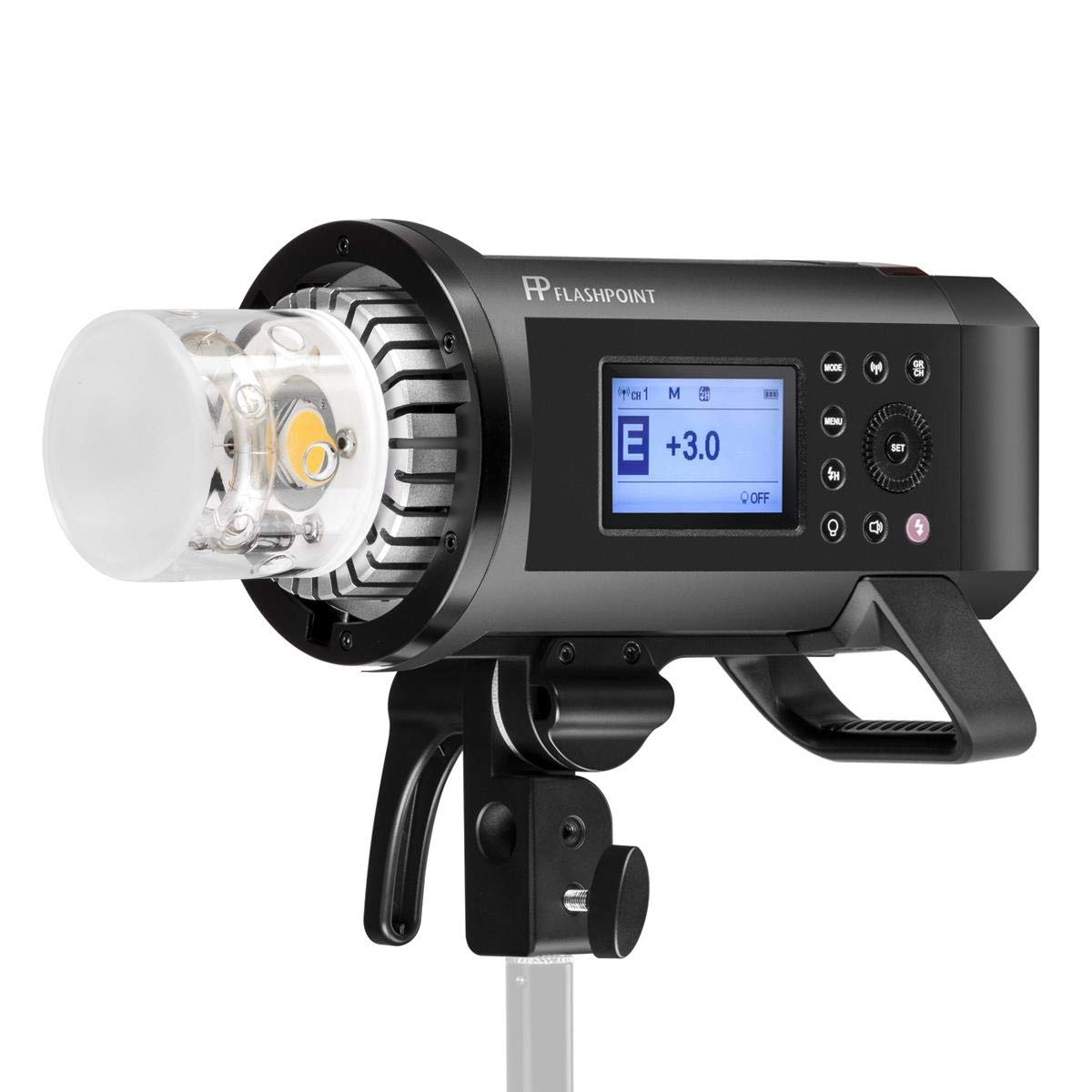 Flashpoint XPLOR 600PRO R2 HSS Battery-Powered Monolight Kit with Glow ParaPop and C-Stand. by Flashpoint (Image #2)