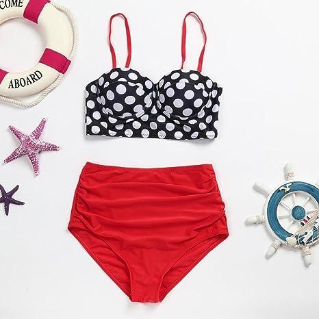Traje de baño de mujer Nuevo, ❤ 💫 Ba Zha Hei Señoras sexy de cintura alta retro onda bikini traje de baño dividido Traje de baño bikini estampado Tops de ...