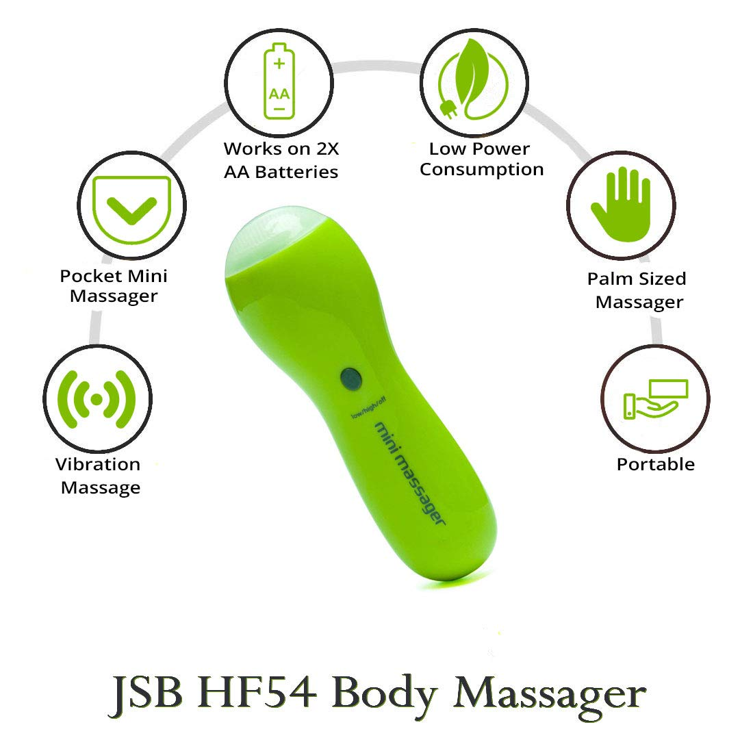 JSB HF54 Pocket Body Massager for Pain Relief and Muscle Relaxation