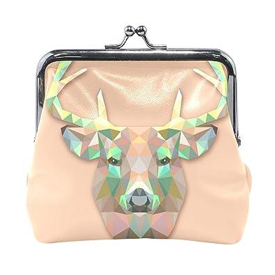 Amazon.com: LALATOP - Monedero para mujer, diseño de ciervo ...