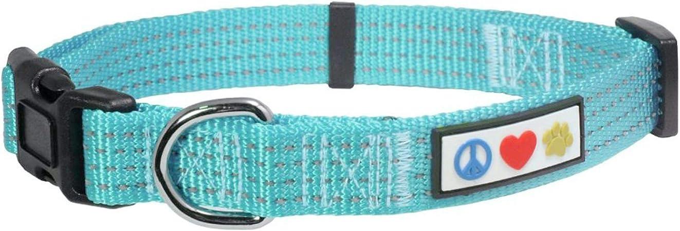 Pawtitas Reflective Dog Collar with Stitching