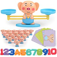 DYTesa Children Early Education Toy Animal Balance Scale Mathematical Digital Addition Counting Teaching Tool for Kids Family Table Game