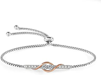 Elegant Womens Lady Plated Charm Bracelet Jewelry Silver Bangle Xmas Gift