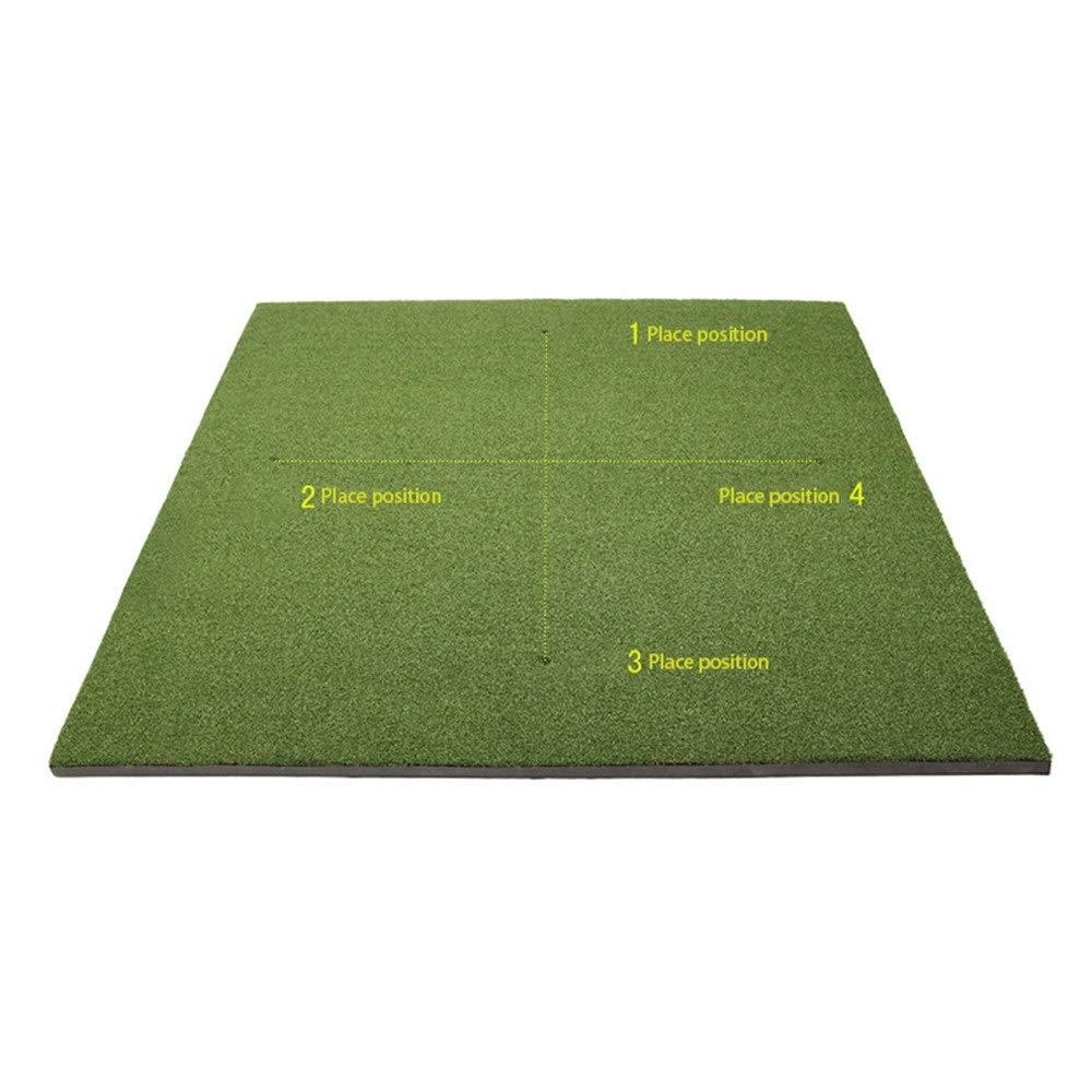 コンパクト ゴルフ用 パター 練習マット 屋内グリーンシステムプロフェッショナルゴルフグリーンパッティングエクササイザーミニフェアウェイトレーニングマット用リビングルーム、バルコニー、オフィス、庭 (色 : 緑, サイズ : 1.5*1.5m) 緑 1.5*1.5m