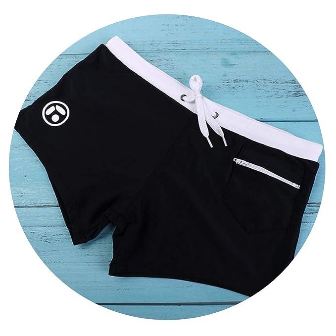 645e3e9d7d No Buy No Bye Mens Swim Trunks Sexy Swimwear Zipper Pocket Beach wear Swimsuit  Men Surfing