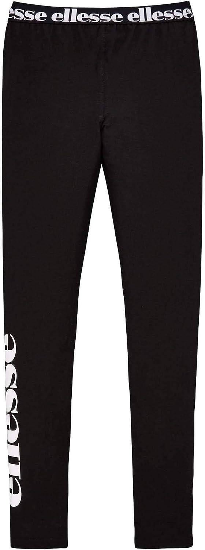 ellesse Heritage Fabi Youth Kids Girls Legging Tight Trouser Black