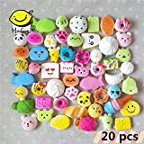 Random 20 pcs Squishy Cream Scented Slow Rising Kawaii Simulation bread children toy Jumbo Medium Mini Soft Squishy Cake/Panda/Bread/Buns Phone Straps By M-Gigi