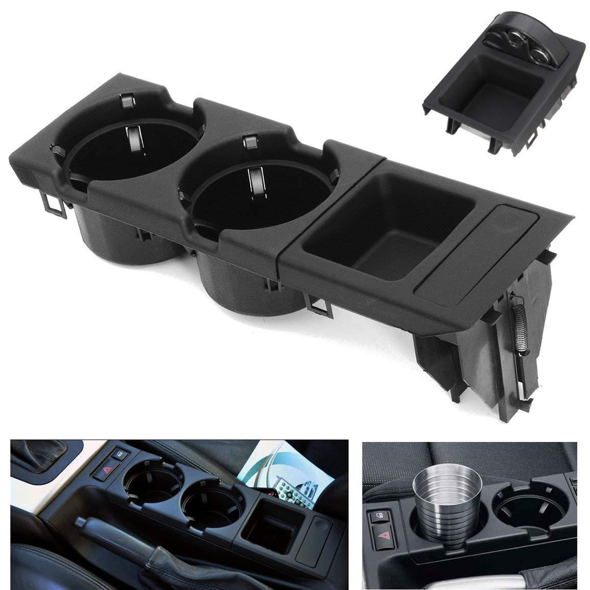 Bebida de la Consola Central Delantera/portavasos + Caja de Monedas para BMW E46 3 Series Bandeja de la Consola Central Delantera del automóvil Caja ...