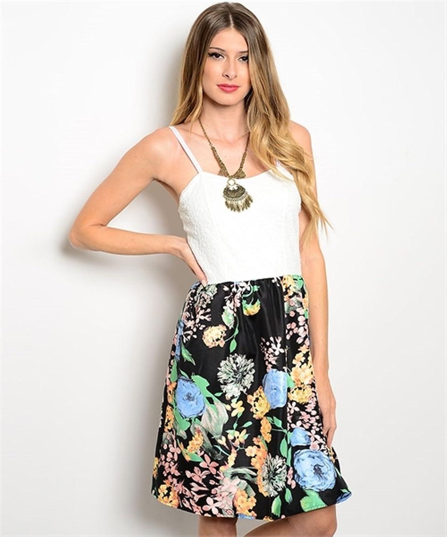 LI'L BLACK DRESS@ Combination Flower Dress