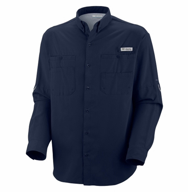 50ee39dab14 Amazon.com  Columbia Sportswear Men s Tamiami II Long Sleeve Shirt  (Collegiate Navy