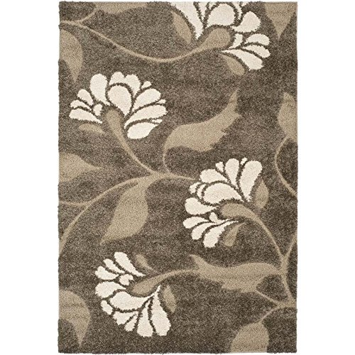 Safavieh Florida Shag Collection SG459-7913 Smoke and Beige Area Rug (2'3