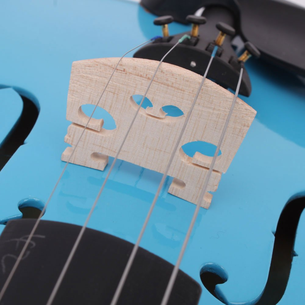 Lovinland 4/4 Acoustic Violin Blue Beginner Violin Full Size with Case Bow Rosin by Lovinland (Image #7)