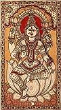 Exotic India Goddess Lakshmi - Kalamkari Painting on Cotton