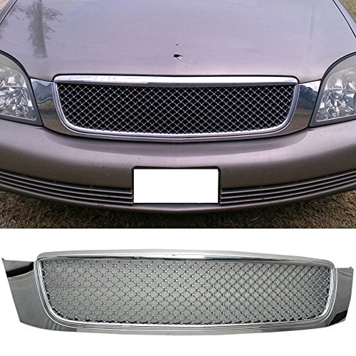 Grille Fits 2000-2005 CADILLAC DEVILLE | Diamond mesh Style ABS Chrome by IKON MOTORSPORTS
