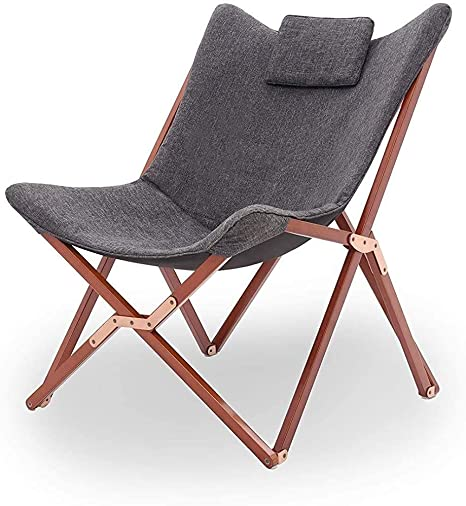 Plegables sillas de jardín cómoda terraza acampar al aire libre de playa plegable portátil sillón reclinable sofá sillón reclinable salón reclinable relajado relaje oscuro gris perez,Dark gray: Amazon.es: Hogar