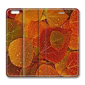 iPhone 6 Case, iPhone 6 Leather Case, Fashion Protective PU Leather Slim Flip Case [Stand Feature] Cover for New Apple iPhone 6(4.7 inch) - Fall Leaves