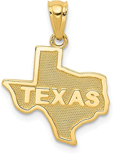 14K White Gold Texas TX Small State Earrings