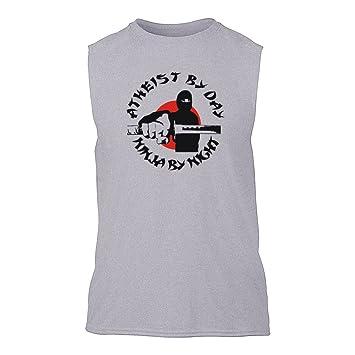 Ateísmo by day, Ninja de noche sin mangas T-Shirt gris xxx ...