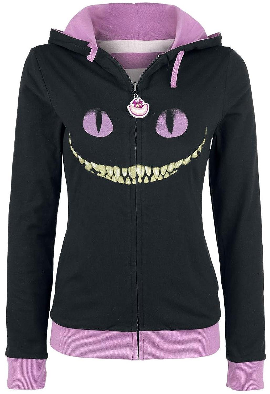 Alice in Wonderland Cheshire Cat - Reversible Veste à Capuche Femme lilas/noir S