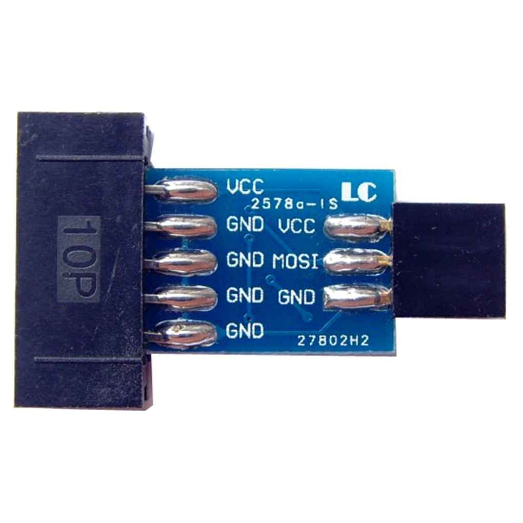 Morza 10 Pin a 6 Pin Standard Scheda Adattatore AVRISP USBASP STK500 Modulo Programmatore ISP Interface Converter