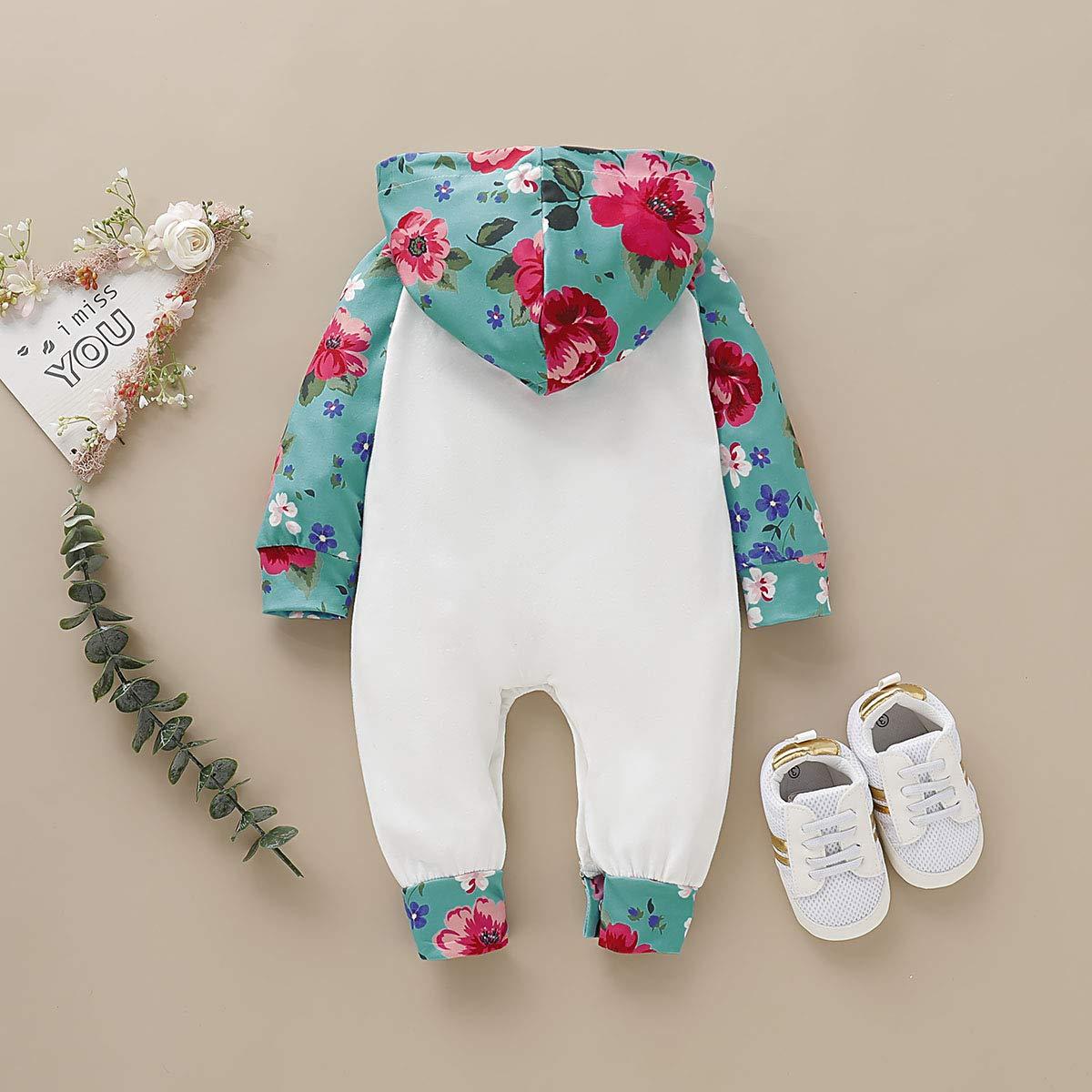 Tutina da neonata a Maniche Lunghe con Cappuccio 0-24 Mesi greatmtx