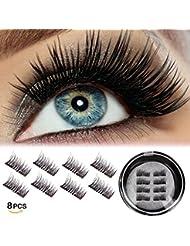 Magnetic Eyelashes Dual Second Lash Professional 3D Reusable Half Magnetic Eyelash (8 pieces)