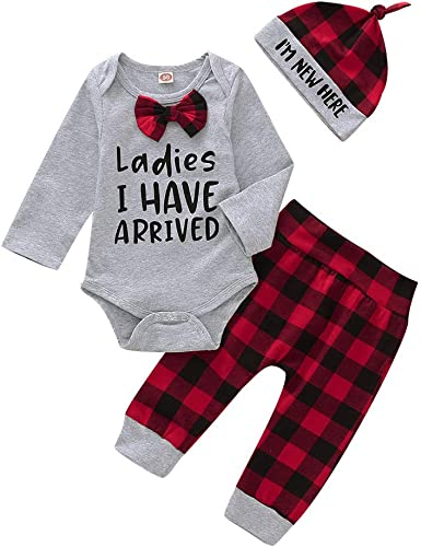 My 1st Near Year Outfits Baby Girls Romper+Black Pants Clothes Set 0-18 Months