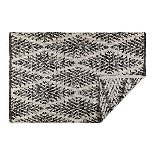 DII CAMZ10424 Indoor Flatweave Cotton Handloomed Yarn Dyed Woven Reversible Area Rug for Bedroom, Living Room, Kitchen, 2x3', Diamond Gray (Rugs Kitchen 2x3)