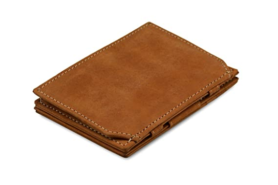 35e8157f9df Garzini Thin Minimalist Genuine Leather Magic Wallet RFID Blocking ...