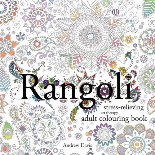 Rangoli Stress Relieving Art Therapy Adult Colouring Book