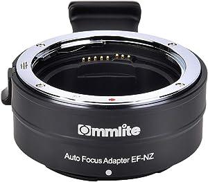 Commlite cm-EF-NZ Canon Sigma EF/EF-S to Nikon Z Mount Lens Adapter, Auto Focus Lens Mount Adapter for Nikon Z6 Z7