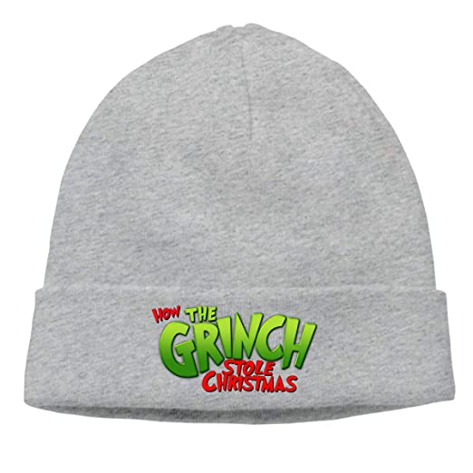 LAfd Caps Warm Beanie Hats How The Grinch Stole Christmas Unisex ... 4690602ee56