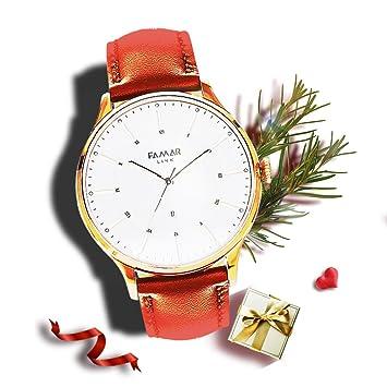 Famar Link Hybrid Smartwatch Las Arenas de oro reloj de pulsera de ...